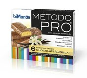 Bimanan metodo pro barrita chocolate- vainilla h 6 barritas