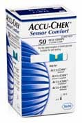 ACCU-CHEK SENSOR COMFORT 50 TIRAS