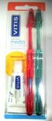 Cepillo dental adulto vitis access medio blister 2 u