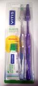 Cepillo dental adulto vitis suave duplo
